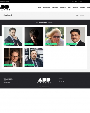 Alberto Apostoli in ADD Award jury board